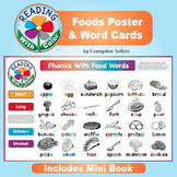 Food Phonics Cards & Poster ~ Match 24 Words & Pictures ~