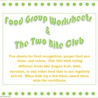 Food Pyramid Worksheets and Two Bite Club