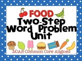 Two Step Word Problem Unit--Task Cards, Scoot, Worksheets,