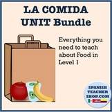 Food Vocabulary Unit for Spanish: Worksheets, Quiz