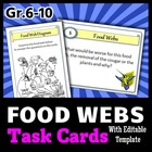 Food Webs - Task Cards