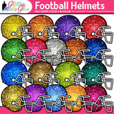 Football Helmets Dipped in Glitter Clipart - Celebrate Sch