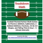 Football Math: Partner Games to Practice Math Skills