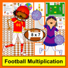 Football Multiplication Math Centers- 169 Facts - Common C