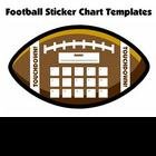 Football Shaped Sticker Charts and Templates