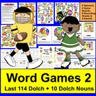 Football Sight Words Super Sunday Game Boards - LAST 114 D