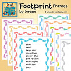 Footprints Clip Art Frames (Borders) for Classroom and Com