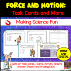 Force and Motion: Science Task Cards (and more)!