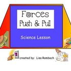Forces, Push and PUll Science SmartBoard Lesson Primary Grades