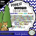 Forest Theme Decor Pack Royal Blue