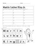 Form a Word: Martin Luther King Jr.