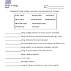 Forms of Energy Test