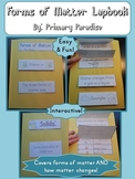 Solids, Liquids, and Gases: Forms of Matter Lapbook {flip book}