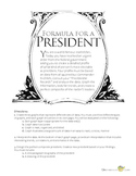 Formula for a President: Graphing and Analyzing Statistical Data