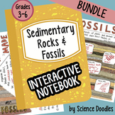 Fossils and Sedimentary Rocks Interactive Notebook BUNDLE