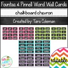 Fountas & Pinnell Editable Word Wall Cards (chalkboard/chevron)