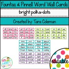 Fountas & Pinnell Editable Word Wall Cards (polka-dots)