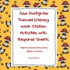 Four Firefighter Themed Literacy Work Station Activities w