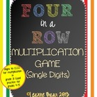 Four in a Row Multiplication Game