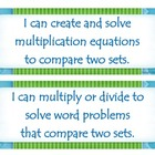 Fourth Grade Common Core I Can Statements - Operations and
