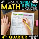 Fourth Grade Common Core Spiral Math Homework - ENTIRE FOU