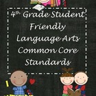 "Fourth Grade Common Core ""Student Friendly"" Language Arts Posters"
