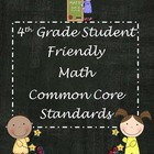 "Fourth Grade Common Core ""Student Friendly"" Math Posters"