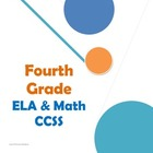 Fourth Grade CCSS ELA and Math Checklist