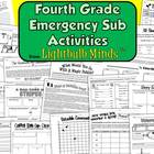 Fourth Grade Emergency Sub Activities from Lightbulb Minds
