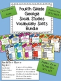 Fourth Grade Georgia Social Studies Vocabulary Word Sort Bundle