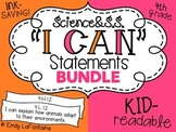 Fourth Grade I Can Statements BUNDLE (Science and Social S