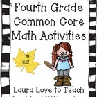 Fourth Grade Math Common Core Unit