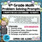 Fourth Grade Math Journal with 140 Prompts CCSS-M