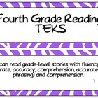 Fourth Grade Reading TEKS~ Purple Zebra