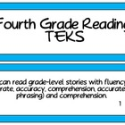 Fourth Grade Reading TEKS~ Solid Blue