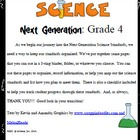 Fourth Grade Science Next Generation Planner