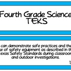 Fourth Grade Science TEKS ~ Solid Blue Background