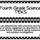 Fourth Grade Science TEKS~ White Dots on Black