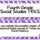 Fourth Grade Social Studies TEKS~ Purple Zebra