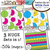 Fraction Circles, Strips & Pieces Clip Art MEGA Pack {Save