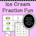 Fraction Fun: Ice Cream Sundae Matching Game