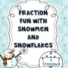 Fraction Fun with Snowmen and Snowflakes {8 Printables}