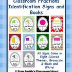 Fraction Identification Signs and Books for Your Classroom