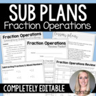 Fraction Operations Emergency Substitute Math Plans
