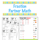 Fraction Partner Math - Cooperative Learning