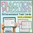 Fraction Puzzlers Challenge Task Cards {Perfect for Differ