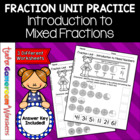 Fraction Unit - Introduction to Mixed Numbers