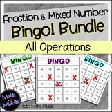 Fraction and Mixed Number Bingo Bundle - all operations!