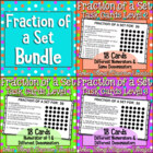 Fraction of a Set Task Cards Bundle of 3