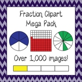Fractions Clipart Megapack: Bars, Circles, and Hundreds Gr